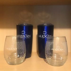 insulated tumblers and wine glasses